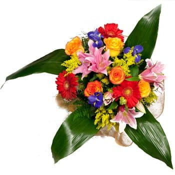 Azerbaijan, Spain flowers  -  Floral Fiesta Bouquet Baskets Delivery