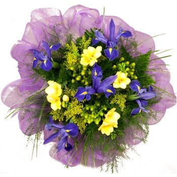 Bordeaux flowers  -  Rays of Sunshine Bouquet Flower Delivery