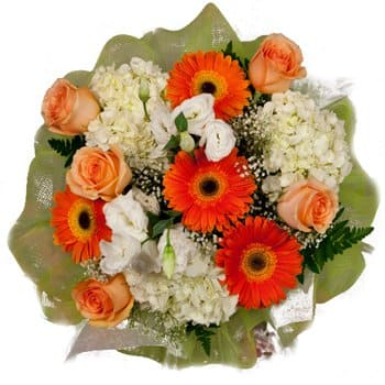 Pakenham South flowers  -  Sun and Snow Bouquet Flower Delivery