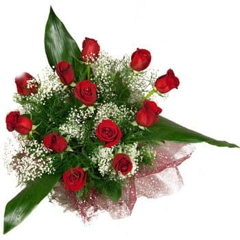 Bordeaux flowers  -  Love Is In The Air Bouquet Flower Delivery