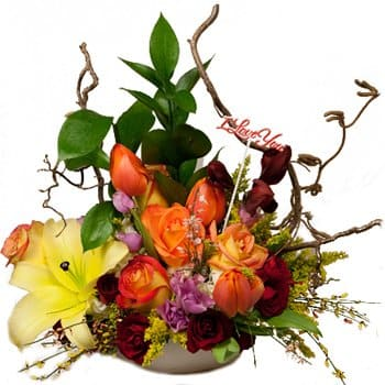 Bonaire online Florist - Something Different Display Bouquet