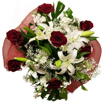 Bordeaux flowers  -  Lots of Love Bouquet Flower Delivery