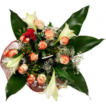 Bodden by Online blomsterbutikk - Frost and Flame Bouquet Bukett