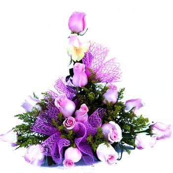 Quimper flowers  -  Passion in Purple Floral Display Flower Delivery