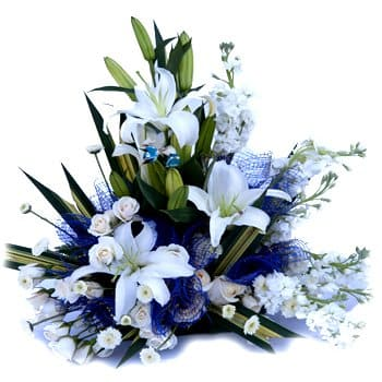 Anguilla flowers  -  Tender is the Night Floral Display Flower Delivery