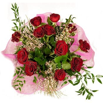 Bordeaux flowers  -  Romance and Roses Bouquet Flower Delivery