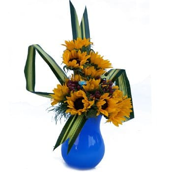 Al Azraq ash Shamālī flowers  -  Sunshine and Simplicity Bouquet Flower Delivery