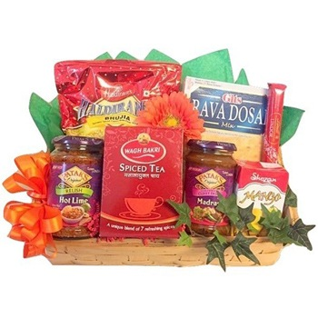 USA, United States online Florist - Into India Basket Bouquet