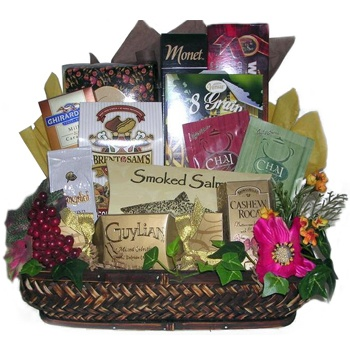 Los Angeles flowers  -  Kosher Delights Gift Tray Baskets Delivery