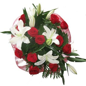 Bordeaux flowers  -  Glorious Globe Bouquet Flower Delivery