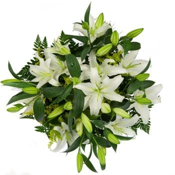 Eritrea flowers  -  Lilies and Delight Flower Bouquet/Arrangement