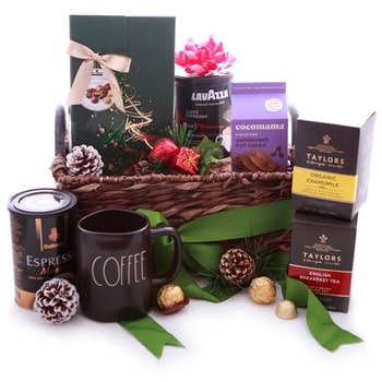 Oslo online Florist - Liquid Gold Gift Basket Bouquet