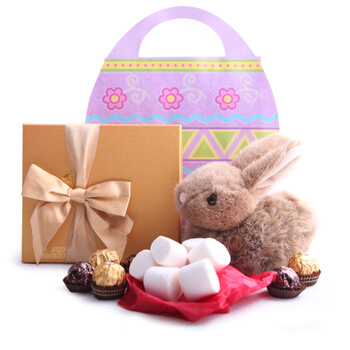 Oslo flowers  -  Little Cottontail Easter Set Baskets Delivery
