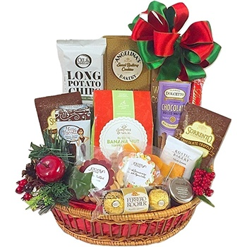 Houston flowers  -  Little Drummer Boy Assortment Baskets Delivery