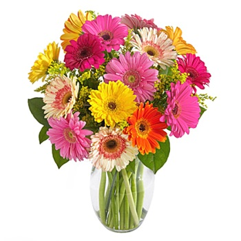 Los Angeles flowers  -  Love Burst Bouquet Baskets Delivery