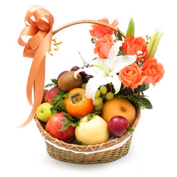 Uzbekistan online Florist - Lovers Basket Bouquet