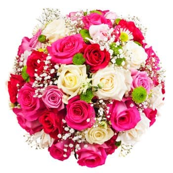 Kyrgyzstan online Florist - Lovers Embrace Bouquet