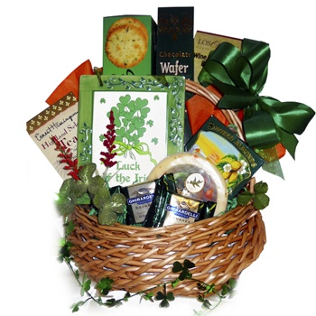 Houston flowers  -  Luck of the Irish Gift Basket Baskets Delivery