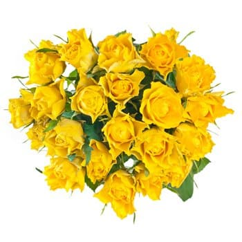 British Virgin Islands online Florist - Lucky Yellow Bouquet