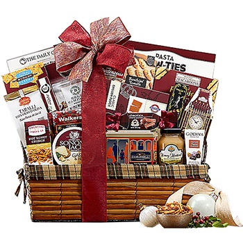 Houston flowers  -  Mountain Of Favorites Gift Basket Baskets Delivery