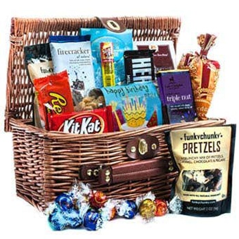 Los Angeles flowers  -  Movie Night Basket Baskets Delivery