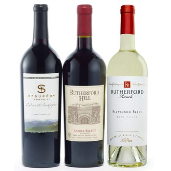 San Francisco bloemen bloemist- Napa Valley Naturals Wine Trio manden Levering