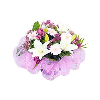 Bagan Ajam online Florist - Pale Perfection Bouquet
