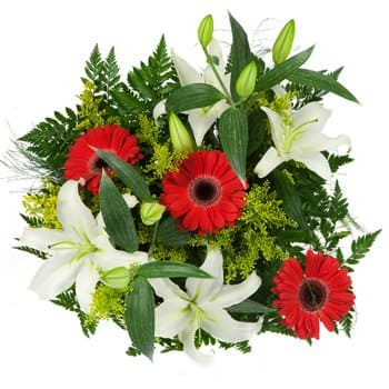 Ban Houakhoua flowers  -  Passion and Promise Bouquet Flower Delivery