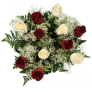 Bordeaux flowers  -  Passion Purity Bouquet Flower Delivery