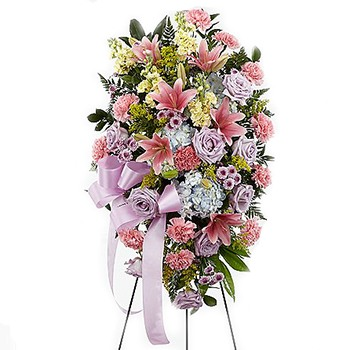 Los Angeles flowers  -  Pastel Peace Baskets Delivery