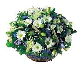 Isle Of Man online Florist - Pastoral Basket Bouquet