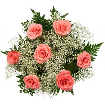 Cambodia flowers  -  Perfect Pink Roses Flower Bouquet/Arrangement