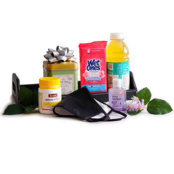 Ilha de Man Florista online - Pick Me Up Basket Buquê