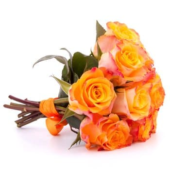 Tajikistan online Florist - Pretty As A Peach Bouquet