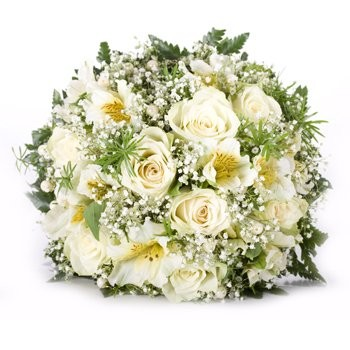 Anguilla flowers  -  Pure Snow Flower Bouquet/Arrangement