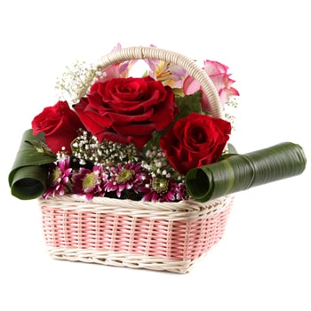 Moscow flowers  -  Radiant Petals Baskets Delivery