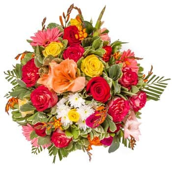 Laos online Florist - Red Contrasts Bouquet