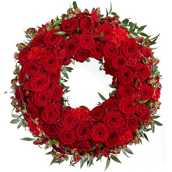 Oslo online Florist - Ring Of Roses Bouquet