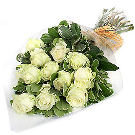 Rest of Norway flowers  -  Bouquet of Dozen Virgin Roses Flower Delivery