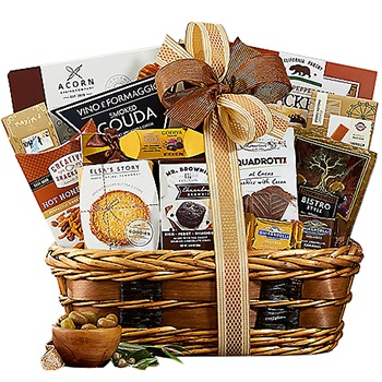 Houston flowers  -  Rustic Gourmet Gift Basket Baskets Delivery