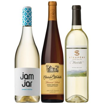 Minneapolis flowers  -  Satisfyingly Sweet Wine Trio Baskets Delivery
