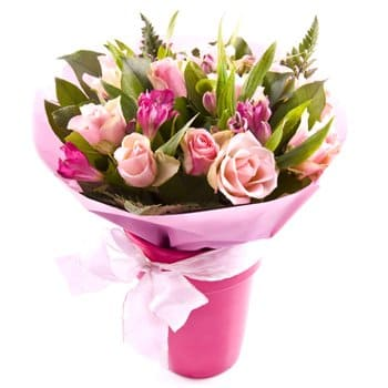 Malawi flowers  -  Shades Of Pink Flower Bouquet/Arrangement