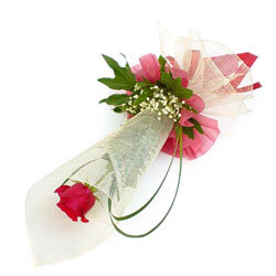 Norway flowers  -  Single Rose Baskets Delivery