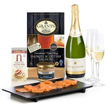 Sheffield, United Kingdom flowers  -  Smoked and Bubbly Gluten Free Set Baskets Delivery