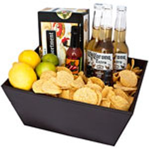Cork flowers  -  Cancun Picnic Gift Basket Flower Delivery