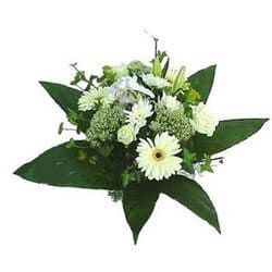Kindberg flowers  -  Snowhite Bouquet Flower Delivery