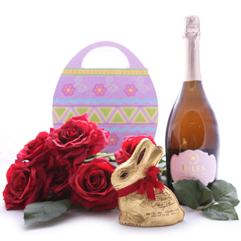 Tegelen blommor- Somebunny to Love Bouquet Set Blomma Leverans