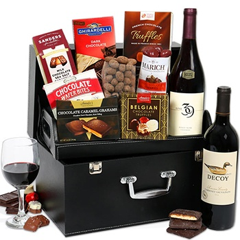 Los Angeles flowers  -  Sophisticates Wine Case Baskets Delivery