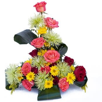 Agat Village flowers  -  Springtime Salutations Centerpiece Flower Delivery