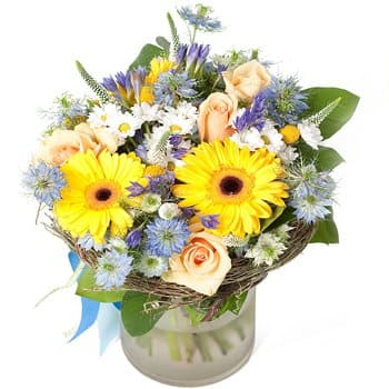 Kingston blomster- Sunny Skies Bouquet Blomst Levering